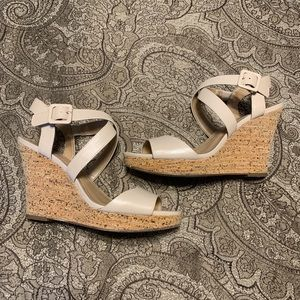 Taupe Wedges - Size 8.5